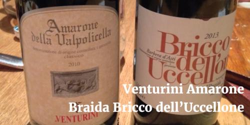 Venturini Amarone and Braida Bricco dell Uccellone by Vito Donatiello blog