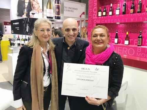 Vito Donatiello awarded Italian Wine Ambassador in China