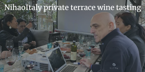 NihaoItaly private terrace wine tasting | Italian Wine & Food in China blog