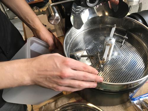Roasting green coffee beans class | Italian Wine & Food in China blog