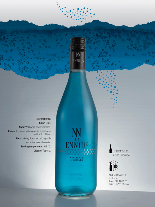 Blue wine tasted in Singapore | Italian Wine & Food in China blog