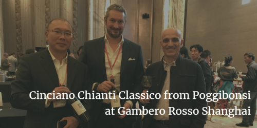 Vito Donatiello tasting Cinciano Chianti Classico DOCG from Poggibonsi | Italian Wine & Food in China blog