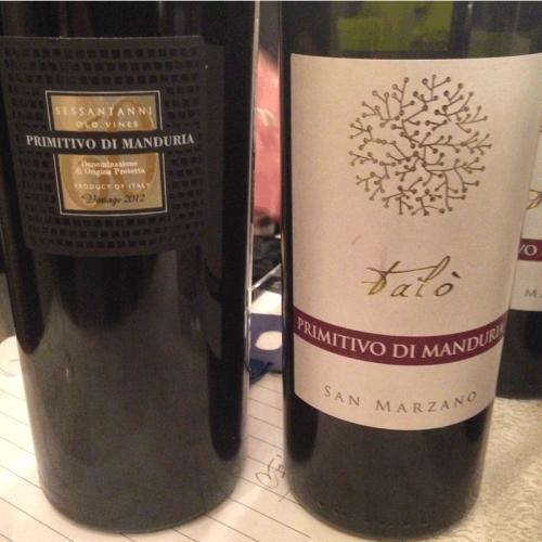 60 Anni Old Vines Primitivo di Manduria 2012 and Falo' Primitivo di Manduria 2012 by Italian Wine & Food In China