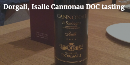 Dorgali, Isalle Cannonau DOC tasting by Italian Wine & Food in China